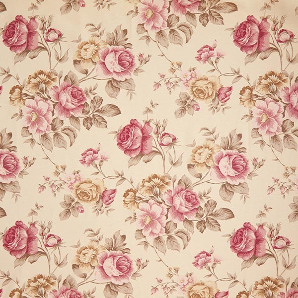 Tissu de décoration ottomane Roses – beige clair