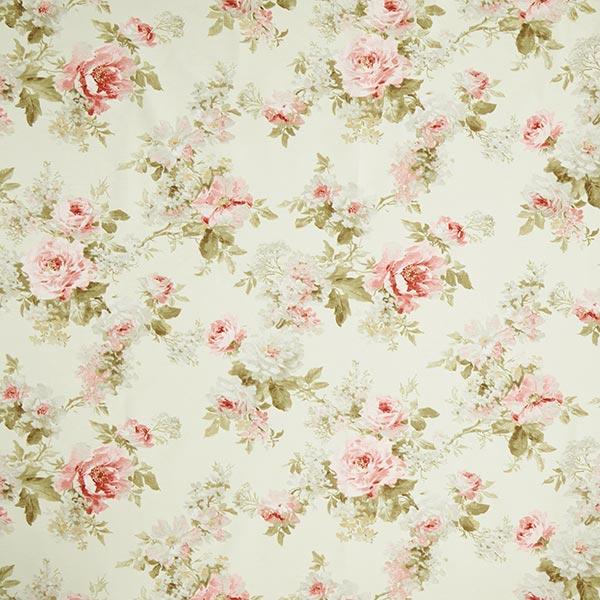 Tissu de décoration ottomane Imprimé roses – crème