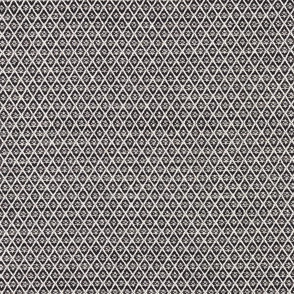 Möbelstoff Jacquard Miniraute – schwarz
