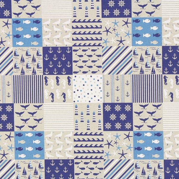Semi-panama Nautique patchwork – nature