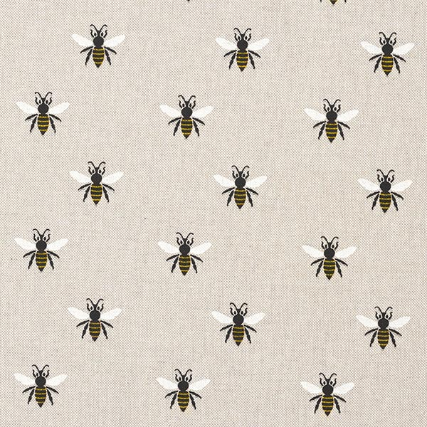 Dekostoff Halbpanama Bienen – natur