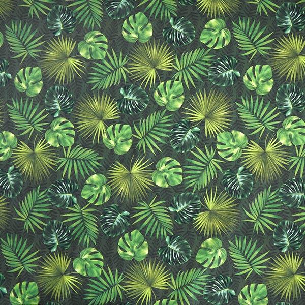 Outdoorstoff Palmenblätter – oliv