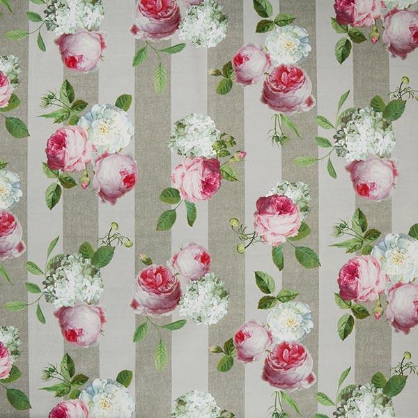 Tissu d'extérieur Hortensias & Roses – sable