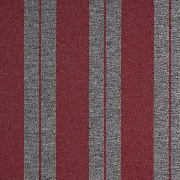Tissu de décoration Jacquard Rayures – rouge