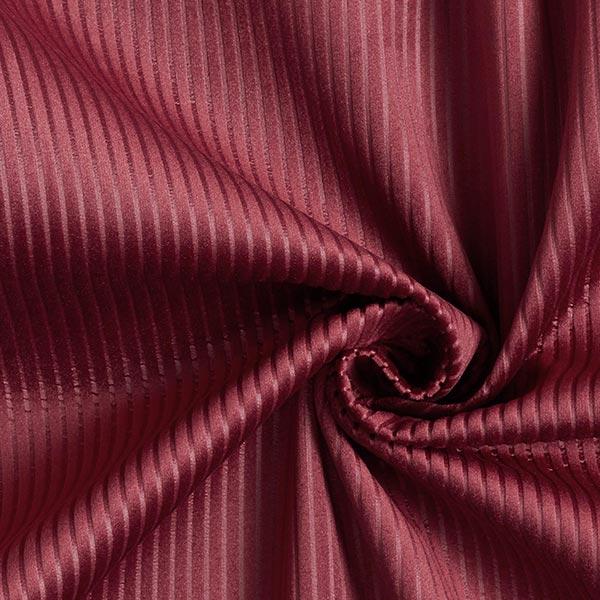 Tissu de décoration Velours Aspect velours côtelé – rouge bordeaux