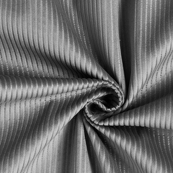 Tissu de décoration Velours Aspect velours côtelé – gris foncé
