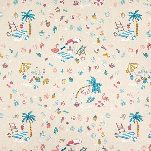 Tissu de décoration Semi-panama Journée de plage
