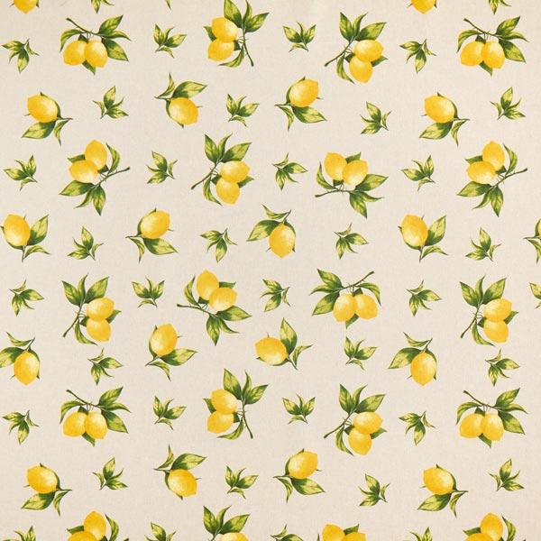 Dekostoff Halbpanama Zitronen – natur
