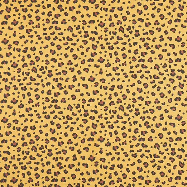 Dekostoff Canvas Leoprint – curry/braun