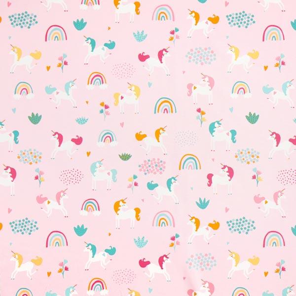 Dekostoff Canvas Einhörner – rosa