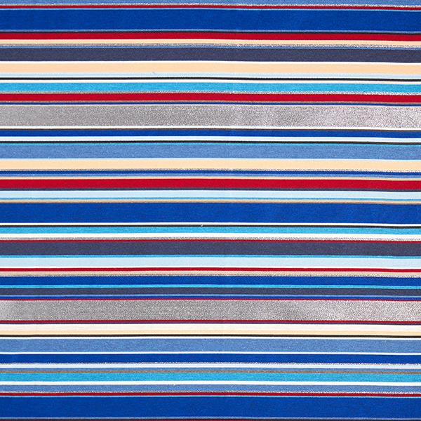Tissu de décoration Jacquard Lurex Rayures – bleu