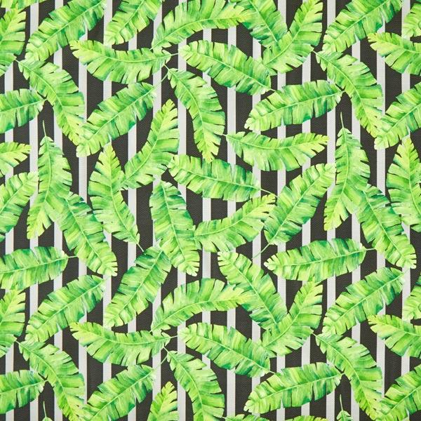 Tissu d'extérieur Feuilles tropicales – vert
