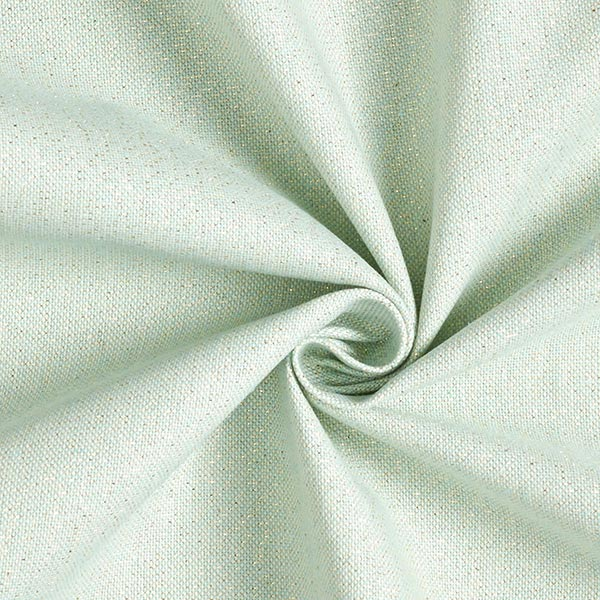 Dekostoff Halbpanama Lurex – mintgrün