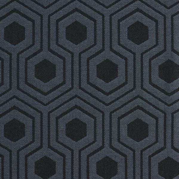 Tissu d'extérieur Motif graphique – gris/noir