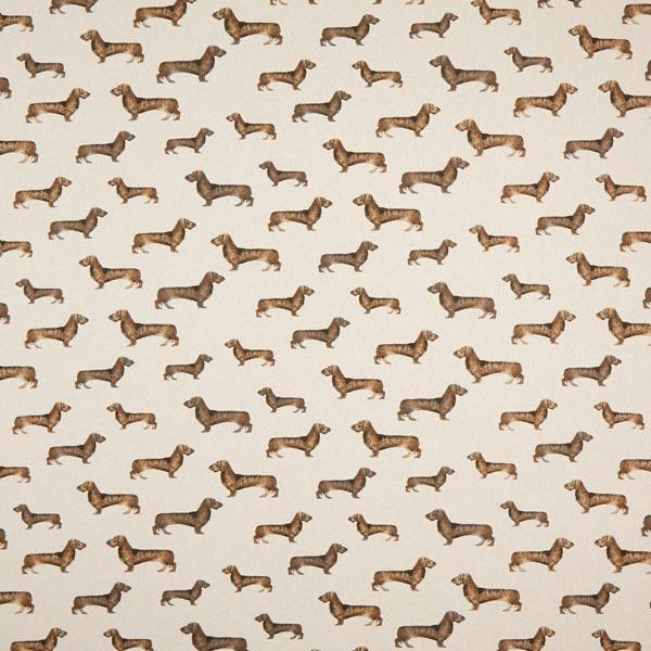 Tissu de décoration Semi-panama Teckel – nature