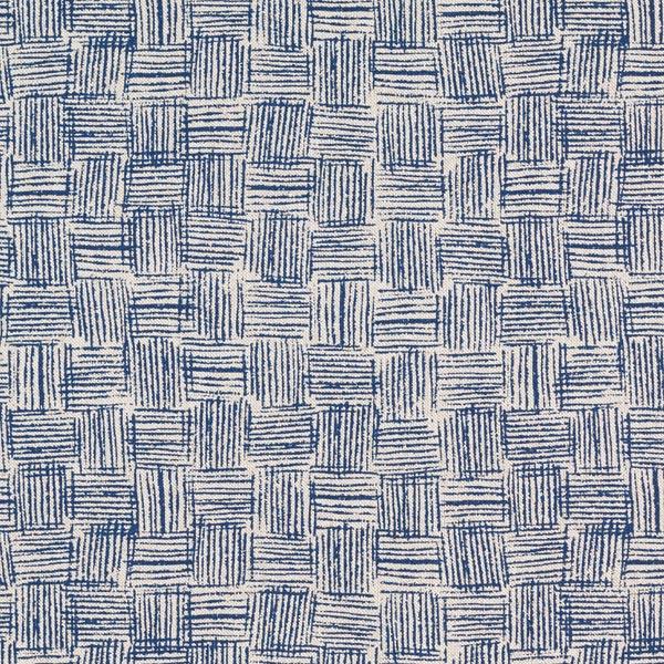 Dekostoff Halbpanama Striche – marineblau