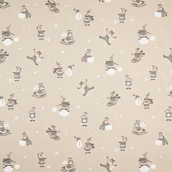 Tissu de décoration Semi-panama Enfants en hiver – gris