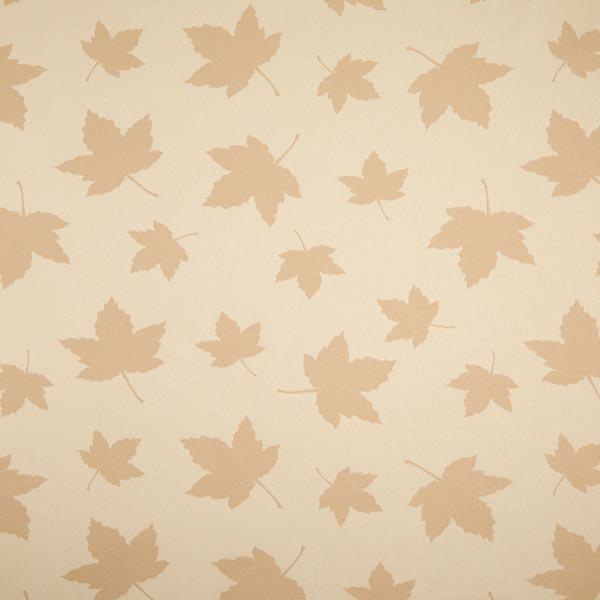 Tissu de décoration Jacquard Plaid feuilles d'érable – beige