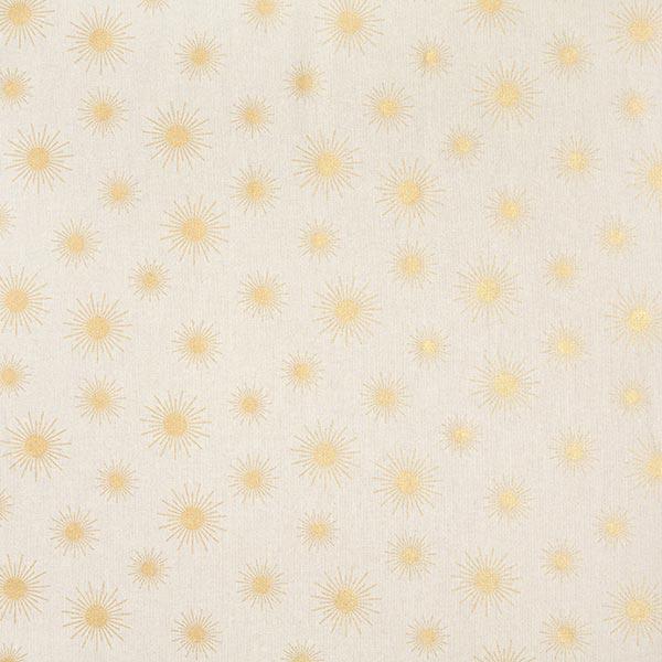 Tissu de décoration Semi-panama Soleils d'or   – nature