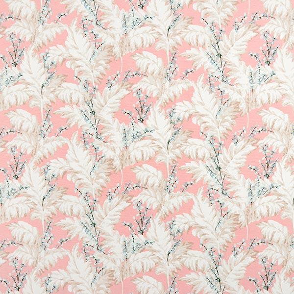 Dekostoff Canvas Pampasgras – rosa/weiss