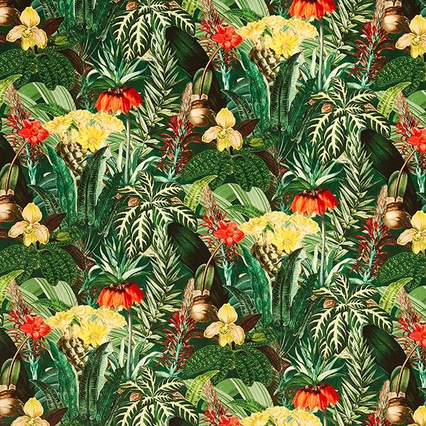 Dekosamt Paradiesischer Dschungel – grün