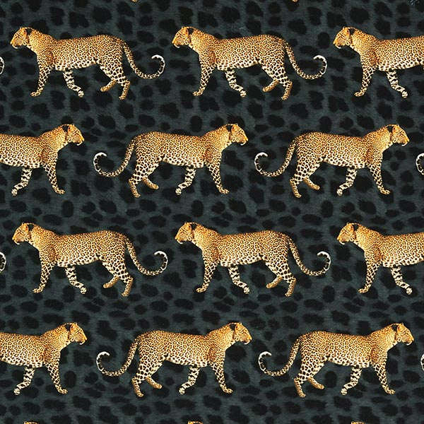 Dekosamt Leoparden – dunkelgrau