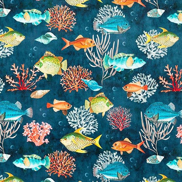 Dekosamt Premium Fische – navy