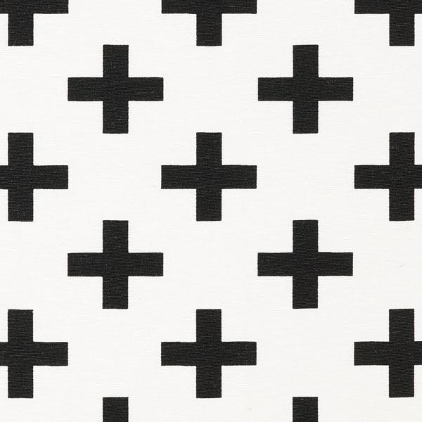 Dekostoff Kreuze - wollweiss