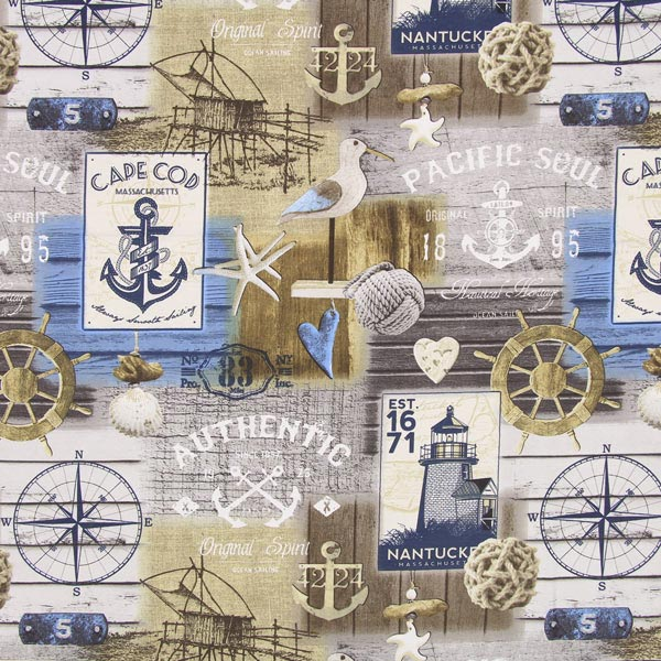 Tissu de décoration Trucs maritimes