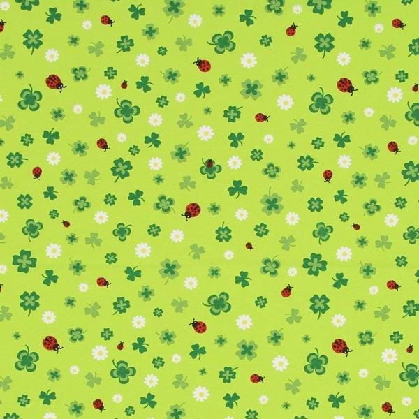 Dekostoff Canvas Kleeblätter – apfelgrün