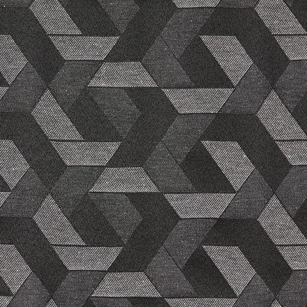 Tissu de décoration Jacquard Tresse noire – anthracite