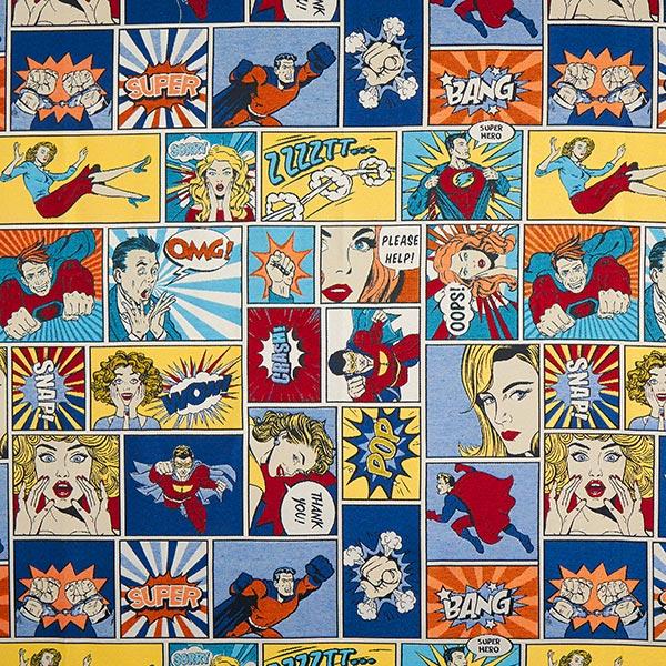Jacquard Gobelin comic – bleu/rouge
