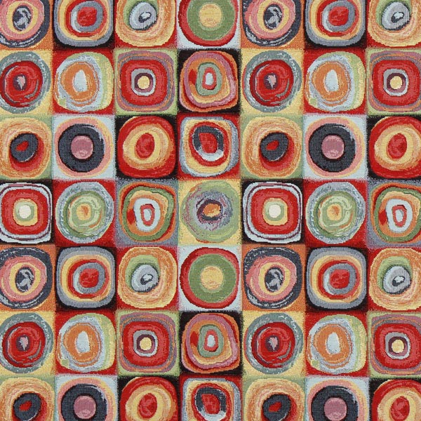 Jacquard Gobelin Cercles Kandinsky 1