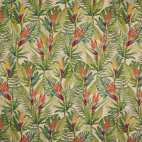 Jacquard Gobelin Palmwedel – grün/beige
