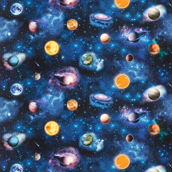 Tissu de décoration Impression numérique Étoiles – noir