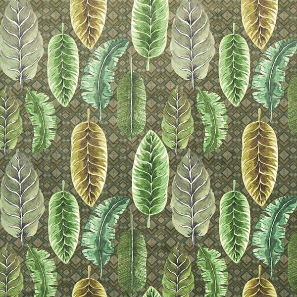 Tissu Palmiers velours Palmes – vert