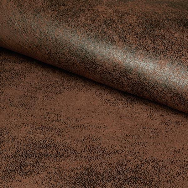 Tissu d'ameublement similicuir Toho – marron foncé