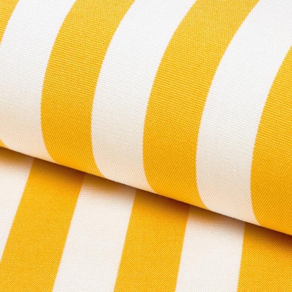 Extérieur Tissu pour chaise longue Rayures verticales, 44 cm – jaune