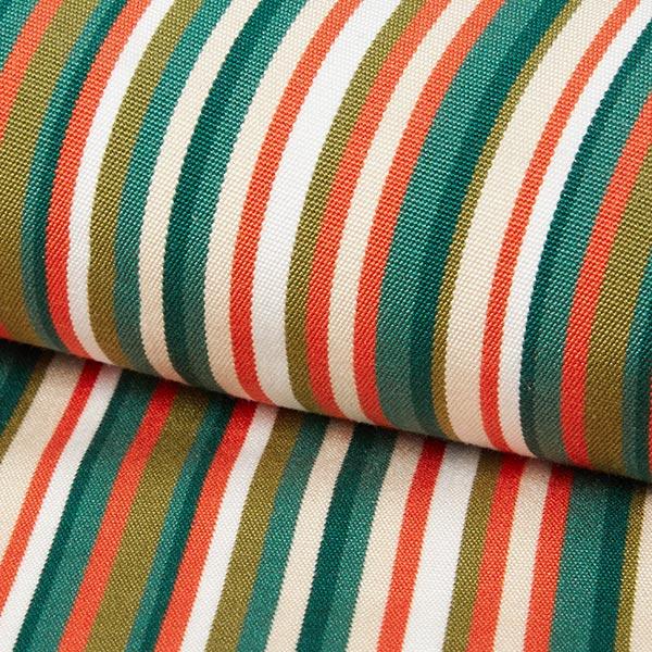 Tissu d'extérieur pour chaise longue Rayures verticales, 44cm – vert