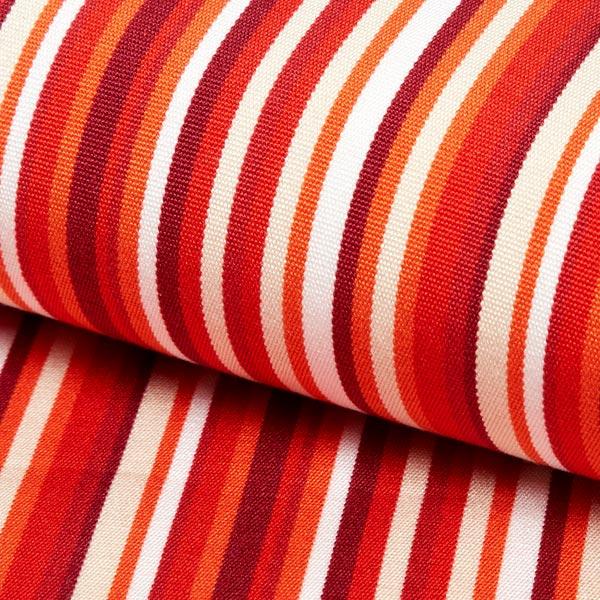 Extérieur Tissu pour chaise longue Rayures verticales, 44 cm – rouge/orange