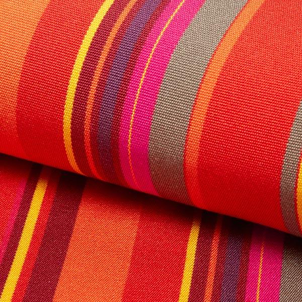Extérieur Tissu pour chaise longue Rayures verticales, 44 cm – rouge/lilas