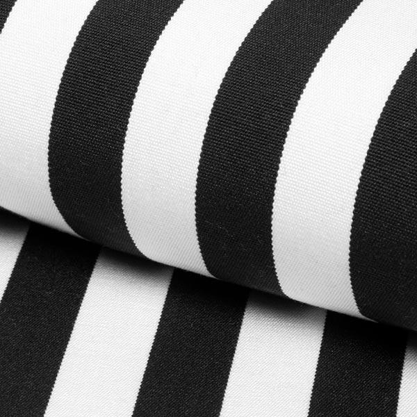 Extérieur Tissu pour chaise longue Rayures verticales, 44 cm – noir