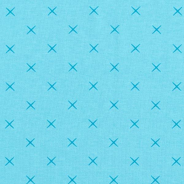 Jersey coton Petits cercles – bleu aqua
