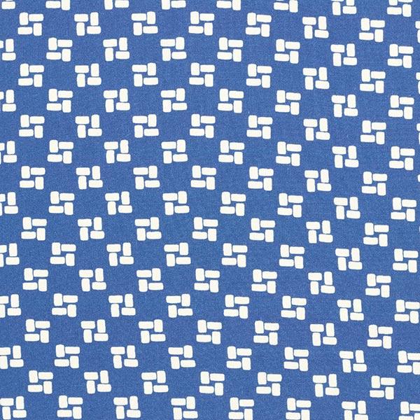 Tissu pour chemisier Motif brique – bleu jean