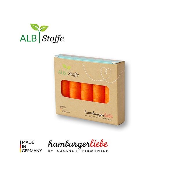 Stitch Me Nähgarn Set [ 5 x 200 m ] | Albstoffe – orange
