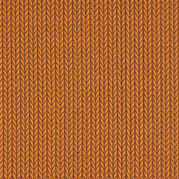 Big Knit Jacquard GOTS – terracotta | Albstoffe | Hamburger Liebe