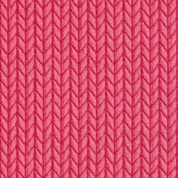 Jacquard Bio GOTS Big Knit – rose vif | Albstoffe | Hamburger Liebe