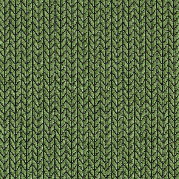 Big Knit Jacquard GOTS – vert/bleu marine | Albstoffe | Hamburger Liebe