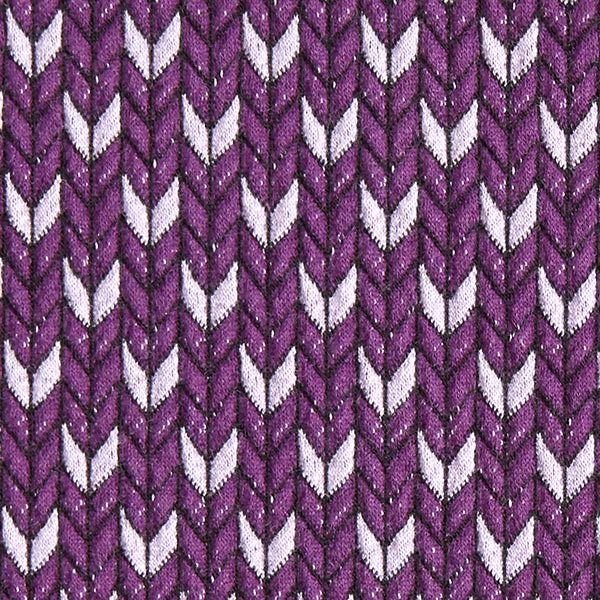 Jacquard GOTS Check Point Knit Stitches – lilas/mauve | Hamburger Liebe