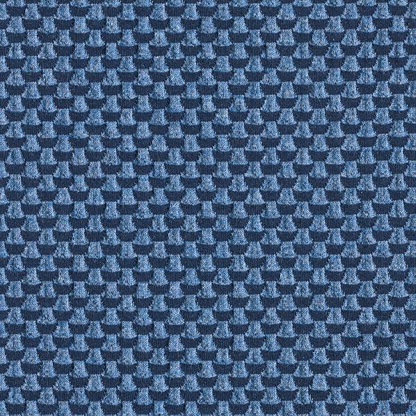 SWEET HOME Jacquard Jersey Double 3D GOTS – marineblau/jeansblau | Albstoffe | Hamburger Liebe